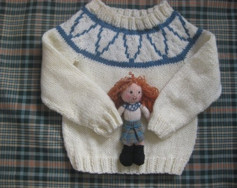 Katie Morag inspired jumper (Doll can be added)