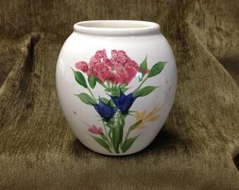 Emerson Creek Pottery Vase, Vintage Hand Painted Pottery Vase, Emerson Creek, Virginia Pottery