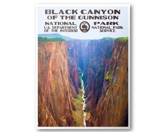 Black Canyon Of The Gunnison National Park Travel Poster & Postcard