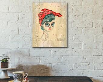 Dia de Los Muertos Rosie Original Artwork