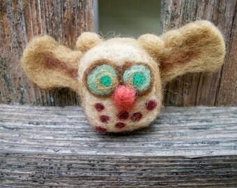Needle Felted Owl, Needle Felted Bird, Wool Bird Sculpture