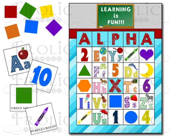 Items Similar To Alphabet, Numbers, Colors And Shapes