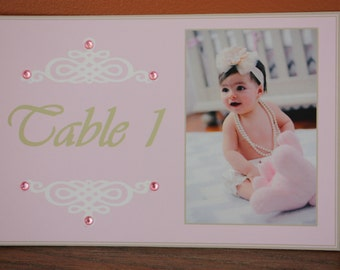 Table Number Cards/Party/Shower/Birthday/Baptism/Christening/Vintage/Chic/Pearls and Lace
