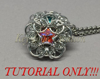Tudor Rose Chainmaille Pendant TUTORIAL ONLY