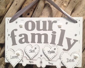 Personalised Handmade Family Plaque