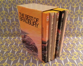 The Best of Ray Bradbury Five Major Works by the Master of Science Fiction Illustrated Man Martian Chronicles Vintage Book Boxed Set