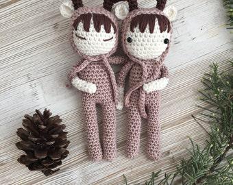 reindeer, MADE TO ORDER, crochet reindeer, crochet toy, christmas reindeer, christmas gift, reindeer baby, child gift, newborn birth gift