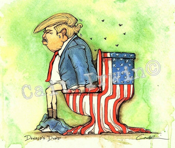 Donald's Dump Anti-Trump Artwork. 8x10 inch Art Print.