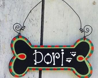 Dog ornament sign, dog bone ornament, dog sign, dog bone, animal sign, animal lovers sign,