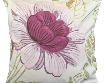 Designer's Guild Amalienborg Purple & Gold Rococo Cushion Cover