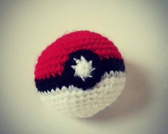 Handmade Crocheted Pokéball
