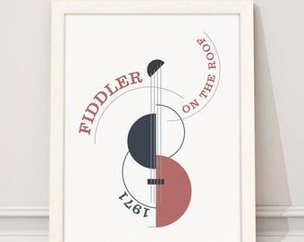 Fiddler on the Roof. Norman Jewison. Wall decor art. Illustration. Digital print. Book. Poster. 15,75 x 19,69 inc