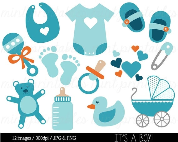 Baby Boy with a Bottle Clip Art  Images amp Illustrations
