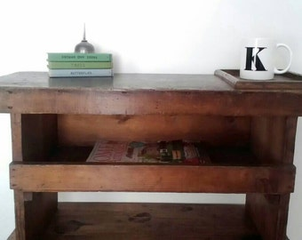 SALE * Vintage, Cobblers Workbench, Unusual Stool, Rustic bench