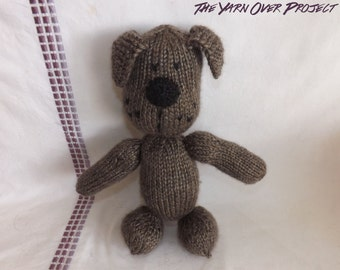 Hand-Knit Stuffed Dog - Stuffed Puppy for Baby - Stuffed Toy for Baby - Stuffed Doll - Baby Puppy Toy