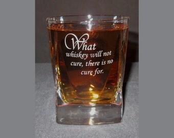 Engraved Whiskey Glass, Personalized Whiskey Glass, Custom Whiskey Glass, Crystal Whiskey Glass, Whiskey Tumbler, Scotch Glass, Alfieri