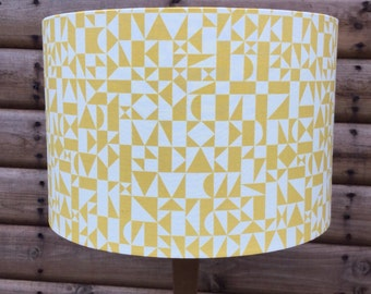 Mustard Yellow Geometric  Lampshade