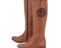 Personalized Brown Boots, Tall Boots, Monogrammed Boots, Boots, Personalized Boots, Boots With Monogram, Riding Boots, Shoes, Legging Boots