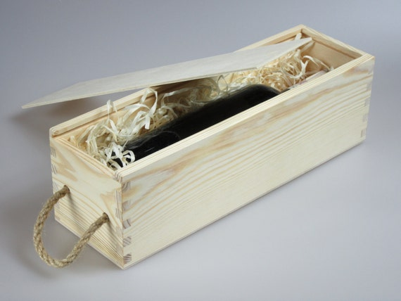 Wooden Wine Box Wedding Gift : Wedding wine box, wooden wine box, unfinished natural wine box ...