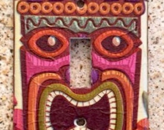 TIKI light Switch Cover