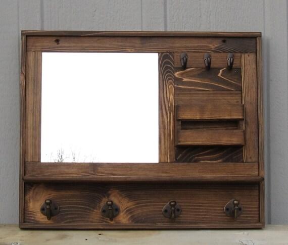 coat rack mirror rustic wood coat rack shelf coat by cedarroad. Black Bedroom Furniture Sets. Home Design Ideas