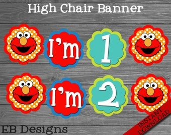 Sesame Street High Chair Banner   Elmo High Chair Banner