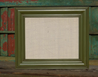 Wood with Green Antique Stain Frame - INCLUDES ARTWORK (W810-GW)