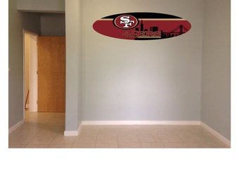 Wall hanging surfboard 49ers Wall Hanging surf board SIgn