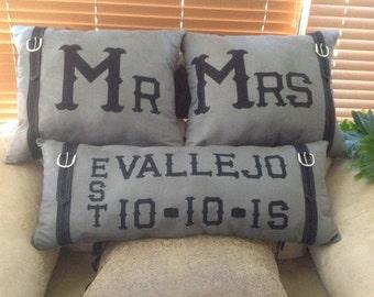 Mrs & Mrs pillow