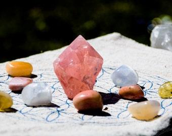 New Paradigm of Love Crystal Grid (Pink Opal, Citrine, Peach Selenite, Selenite, Rose Quartz)