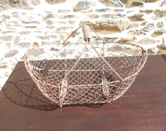 Vintage French Metal Wire Basket