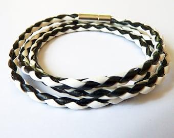 wrap bracelet, black&white