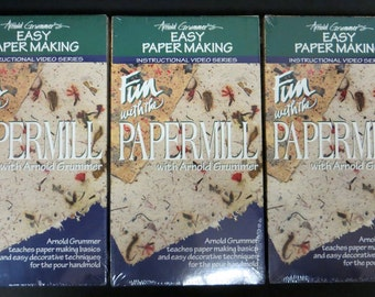 Papermaking VHS tapes (set of 3)