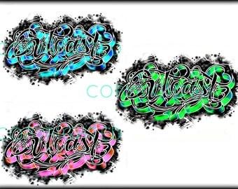 Outcast Design Temporary Tattoos