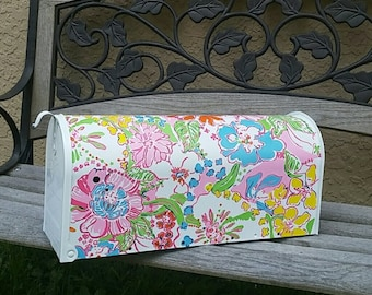 Lilly Pulitzer Painted Mailbox Ready to Ship