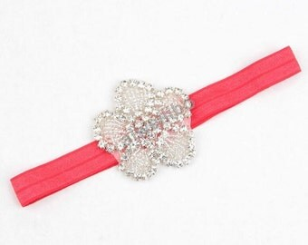 Baby Girl Headband, Rhinestone Headband,Crystal Headband
