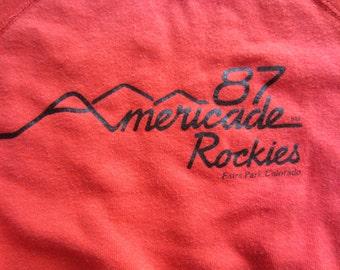 Vintage 1987 Americade Rockies Estes Park Colorado Sweatshirt Soft