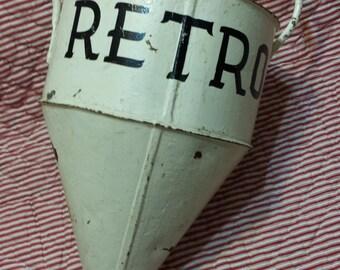 Antique vintage metal nautical buoy