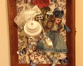 Time For Tea Alice Shadow Box