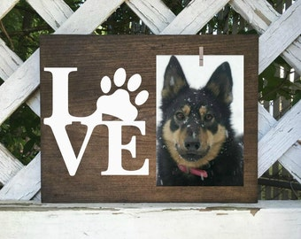 Dog Picture Frame. Cat Picture Frame. Personalized pet frame. Personalized Dog Accessories.  Pet home decor.