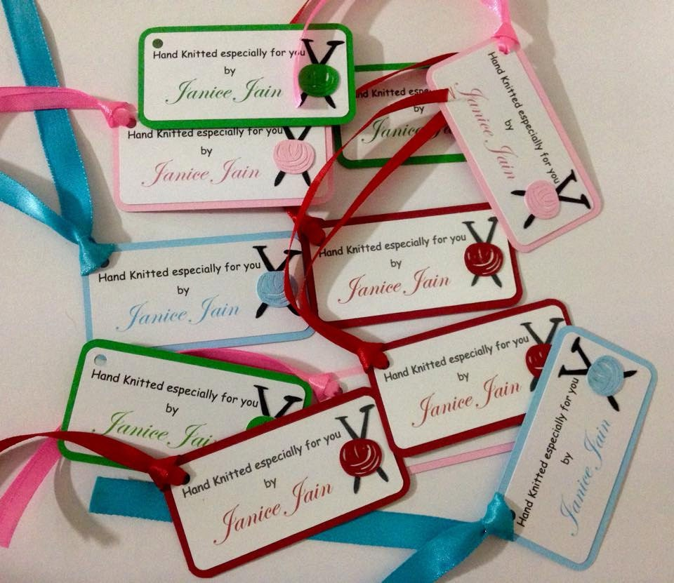 Knitting Labels Canada : Knitting gift tags hand knitted by labels