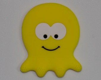 Silicone Octopus Teether in Yellow