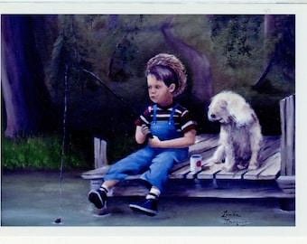 """Greeting cards from Linda Marquis Original Oil Painting, Very Limited. 5"""" X 7""""  with envelope. FREE Shipping   1222L"""