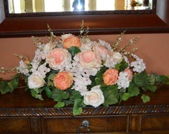 Wedding Centerpiece, Head table centerpiece, Coral Centerpiece, XL Silk Centerpiece, Wedding Table Centerpiece, Wedding tabletop Centerpiece