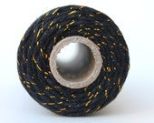 12 Ply Black Metallic Gold Bakers Twine 100 yard spool 12 Ply Thick Cotton String- Birthday Baby Shower Wedding