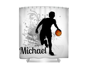 Basketball Shower Curtain Personalized Custom