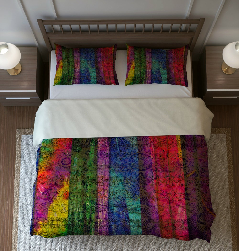 Bohemian Boho Bedding Duvet Cover Set Pillow Shams Twin