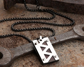 Jagged Bolt Men's Necklace by KAVALRI