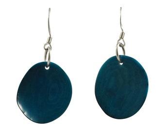 Petalos Tagua Dangle Earrings Eco Friendly Sustainable Colombia Earrings
