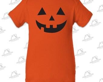 Jack-O-Lantern Orange Baby Halloween Onesie